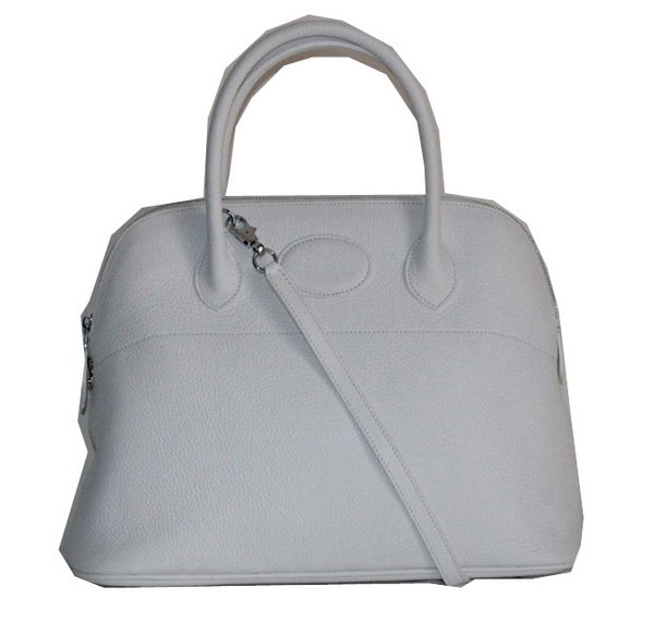 Hermes Bolide 37CM Calfskin Leather Tote Bags H509084 White