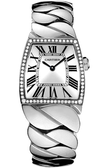Cartier La Dona Series 18k White Gold Midsize Ladies Swiss Quartz Wristwatch-WE60019G