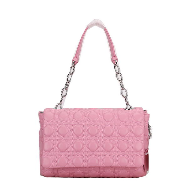 Dior Soft Flap Bag Two-Toned Lambskin Leather D1106 Pink
