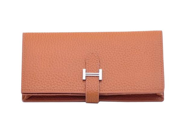 Hermes Bearn Japonaise Bi-Fold Wallet Grainy Leather H68942 Wheat