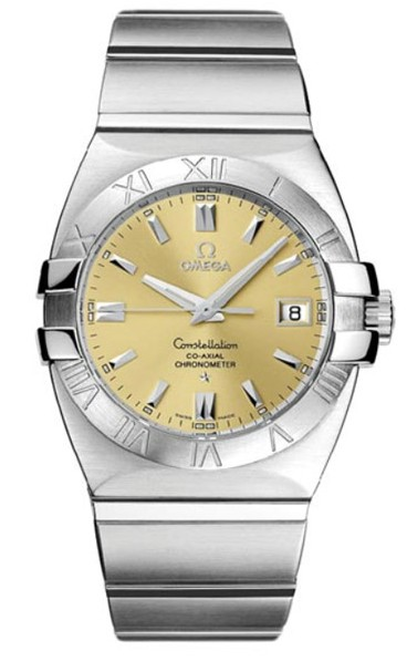 Omega Constellation Double Eagle Chronometer Series Mens Stainless Steel Wristwatch-1501.10.00