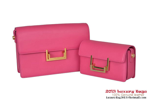 Yves Saint Laurent Classic Small and Medium Lulu Bag in Rose Leather