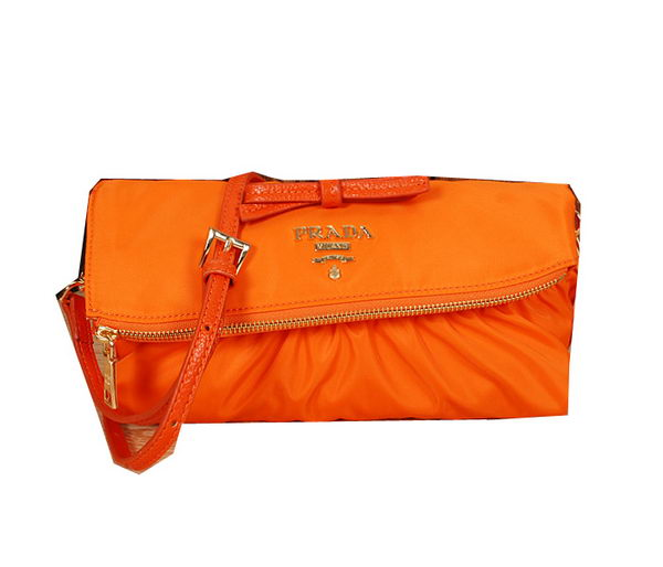 Prada Nylon Tessuto Wristlet BT6104 Orange