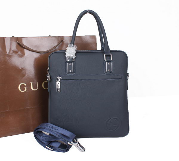 Gucci Calf Leather Business Tote Bag M51082 RoyalBlue