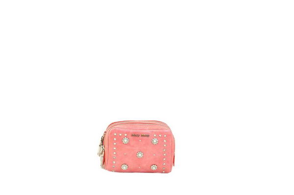 miu miu Shiny Calf Leather mini Bag RT0075 Pink