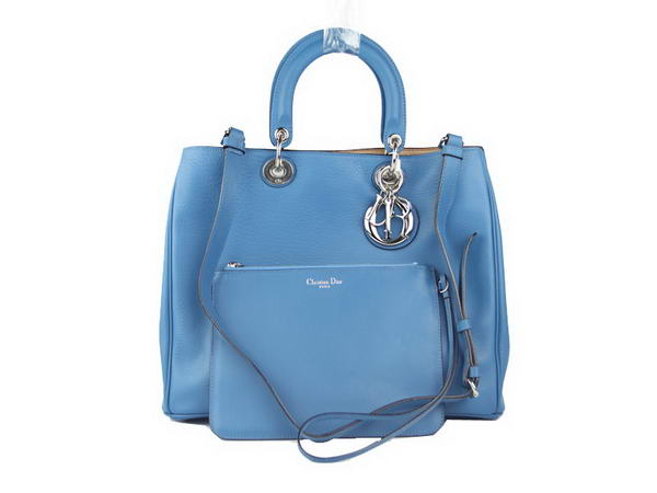 Hot Style Dior Large Diorissimo Bag Lambskin Leather D20680 Blue