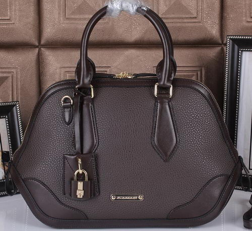 BurBerry Grainy Leather Tote Bag 38541591 Brown