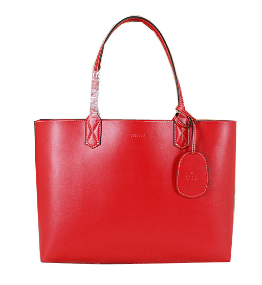 Gucci Reversible GG Leather Tote Bag 368568 Red