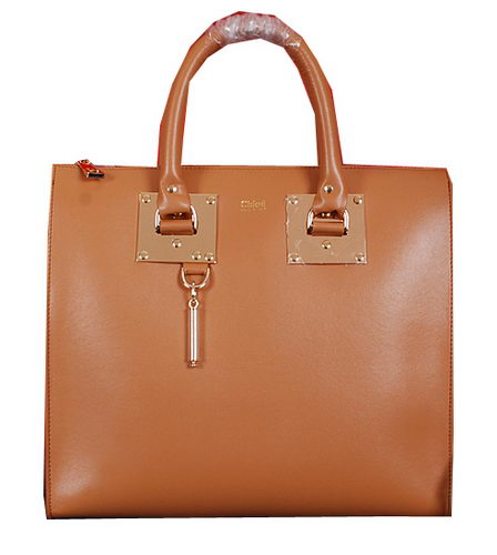 CHLOE Smooth Calfskin Leather Tote Bag 8679S Wheat