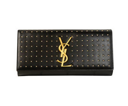 Yves Saint Laurent Classic Monogramme Clutch Y9939 Black