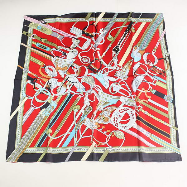 Hermes Scarves Silk Broadcloth WJH059 Black