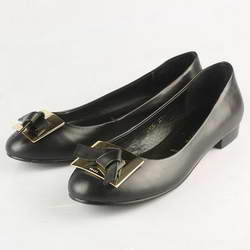 Prada Classics Patent Leather Knot Flats Black