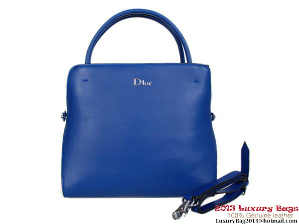 Dior Fall Winter 2012 Calfskin Top Handle Bag CD0904 RoyalBlue