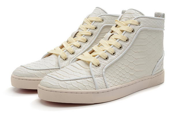 Christian Louboutin Casual Shoes Snake Leather CL869 White