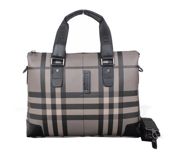 Burberry Smoked Check Mens Briefcase 39731 Black
