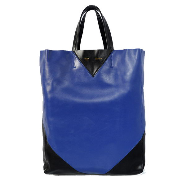 Celine Cabas CCEUR Bag in Smooth Lambskin Leather 16440 RoyalBlue