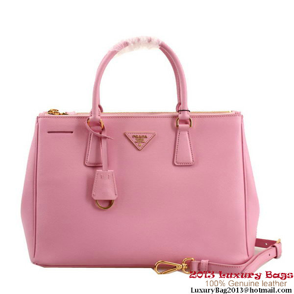 Prada Saffiano Leather 33CM Tote Bag BN2274 Light Pink