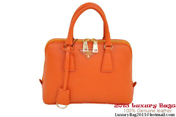 Prada Saffiano Two Handle Bag 25cm BL0838 Orange