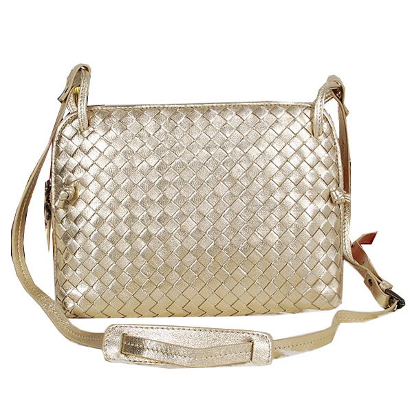 Bottega Veneta Intrecciato Nappa Cross Body Bag BV1515 Light Gold