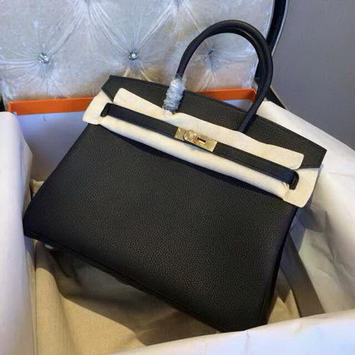 Hermes Birkin 35CM 30CM Tote Bag Grainy Leather H35H30 Black