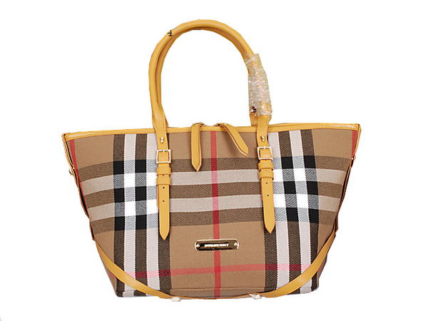 BurBerry Versatile House Check Tote Bag 1158 Wheat