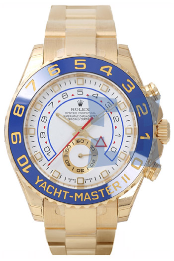 Rolex Yachtmaster II Series Elegant Mens Automatic 18k Yellow Gold Wristwatch 116688