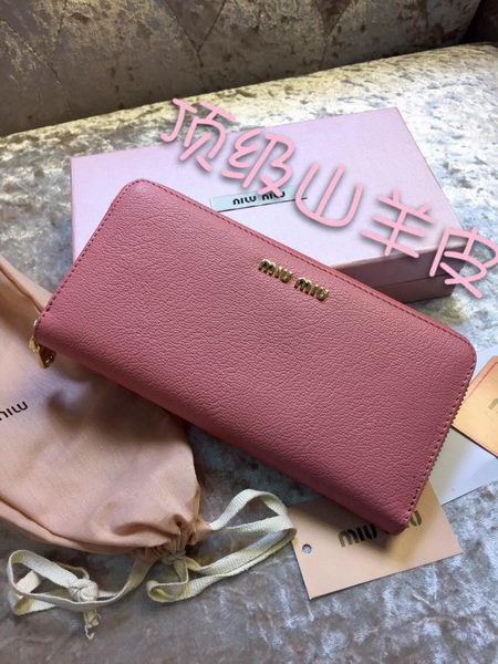 miu miu Madras Original Leather Wallet 30200 Pink