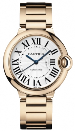 Cartier Ballon Bleu Medium Series Wonderful 18k Yellow Gold Unisex Automatic Wristwatch-W69003Z2