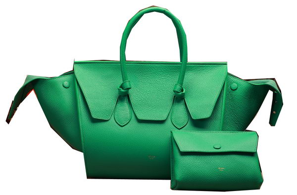 Celine Tie Nano Top Handle Bag Original Leather C3052 Green