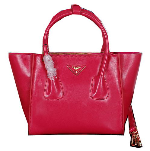Prada Bright Leather Tote Bags BN2625 Rose