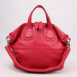 Givenchy Cow Leather Top Handle Bags Plum-Red 29880