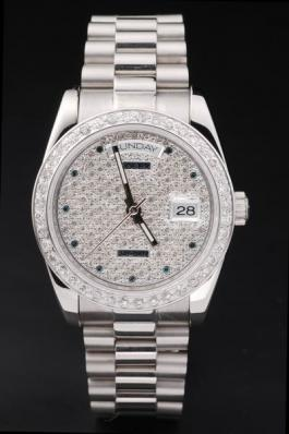 Rolex Day-Date Diamond Round Cutwork Watch-RD2429