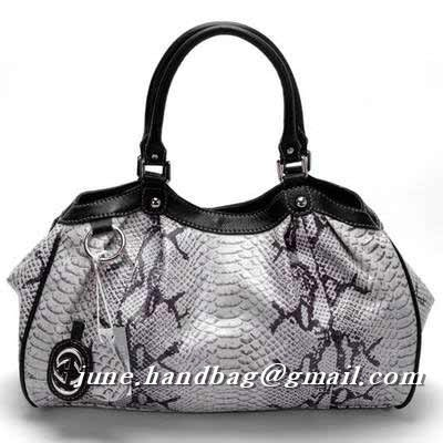 Gucci Sukey Python Medium Handbag 211944 White