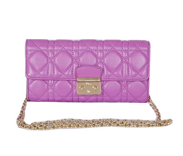 DIOR Soft Shoulder Bag in Original Leather D0522 Purple