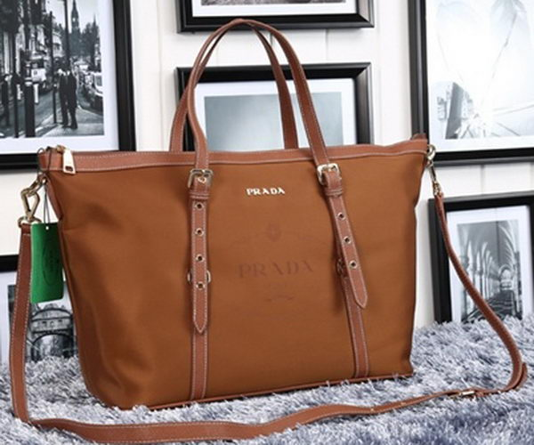 Prada Nylon Jacquard Top Handle Bag BL8503 Wheat