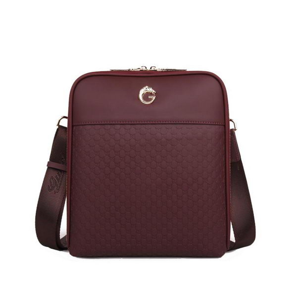 Gucci Guccissima Leather Messenger Bag 530684 Burgundy