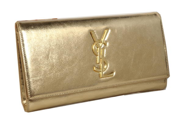 Yves Saint Laurent Classic Monogramme Clutch 311213A Gold