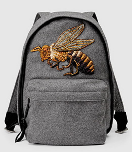 Gucci Beaded Sky Wool Backpack 400248 Grey