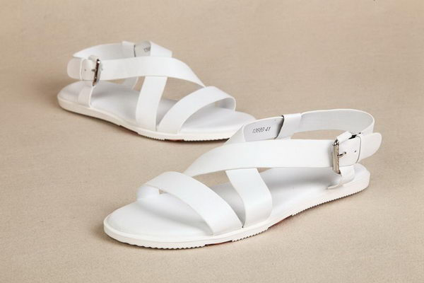 Hermes Calfskin Leather Sandals HO0321 White