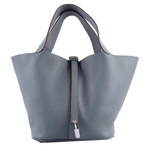 Hermes Picotin Lock MM Bags Clemence Leather H8616 Grey