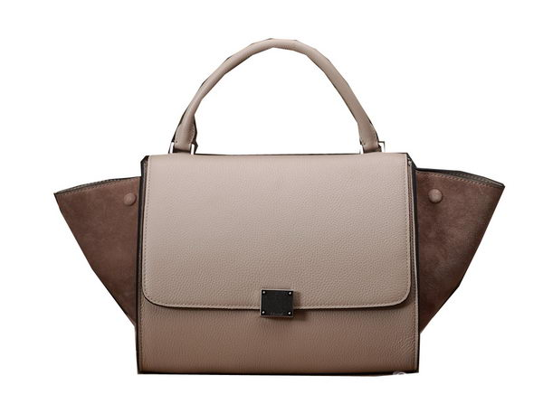 Celine mini Trapeze Top Handle Bag Original Grainy Leather 3342S Khaki