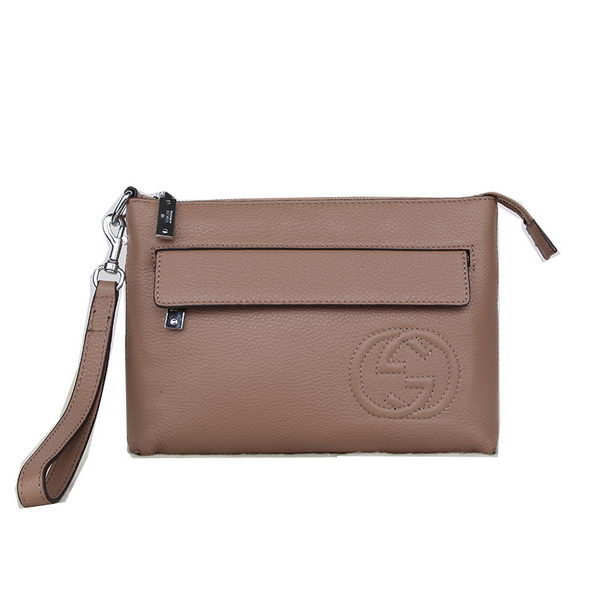 Gucci Original Grainy Leather Clutch G8016 Apricot