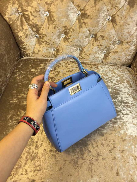 Fendi mini Peekaboo Bag Calfskin Leather 30320 SkyBlue