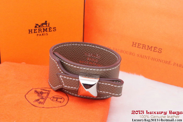 Hermes Genuine Leather Bracelet H1146_8