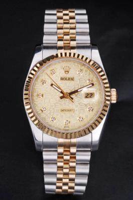 Rolex Datejust Golden Surface Stainless Steel Watch-RD3793