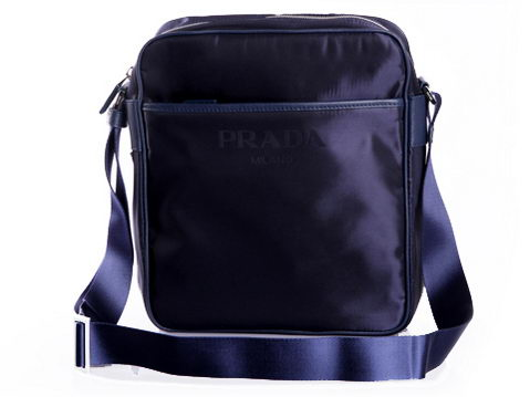 Prada Vela Fabric Hobo Bag VA0795 Dark Blue