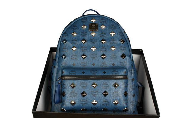 MCM Stark Backpack mini in Calf Leather 8031 RoyalBlue