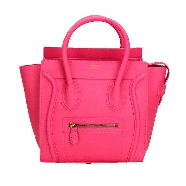 Celine Luggage Micro Bag Ferrari Leather CL88023 Rose