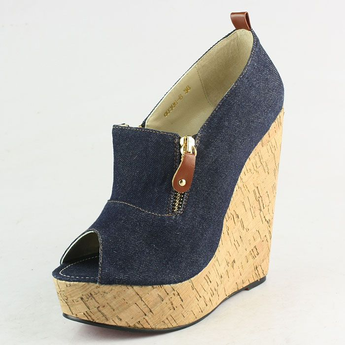 Christian Louboutin Denim 150mm Wedges
