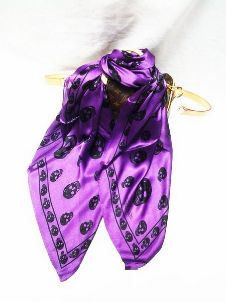 MQUEEN Scarves Silk MQ16013 Purple